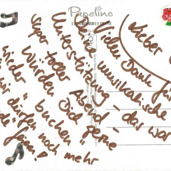 Dankeskarte Hochzeit - DJ Elle - DJ im Landkreis Sigmaringen