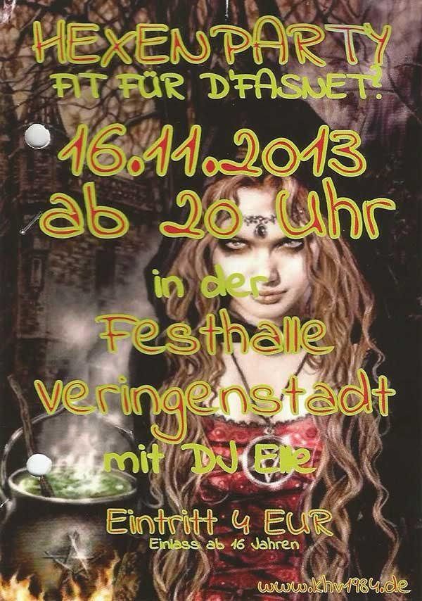 Hexenparty Fasnet in Veringenstadt - DJ Elle - DJ im Landkreis Sigmaringen und Umgebung
