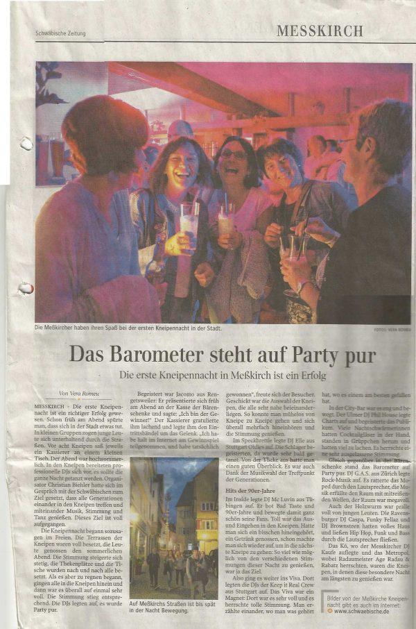 Messkircher Kneipennacht - DJ Elle - DJ im Landkreis Sigmaringen